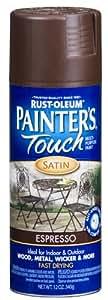 Rust-Oleum 240264 Painter's Touch Satin Spray, Espresso, 12-Ounce