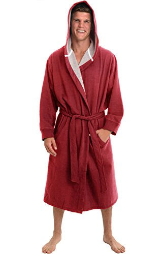 Del Rossa Cotton Sweatshirt Bathrobe