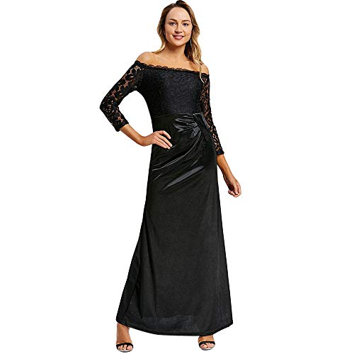 KCatsy Off The Shoulder Draped Maxi Evening Dress -