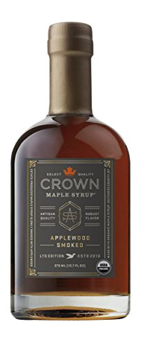 Crown Maple Organic Maple Syrup, Applewood Smoked, 12.7 Fluid Ounce -