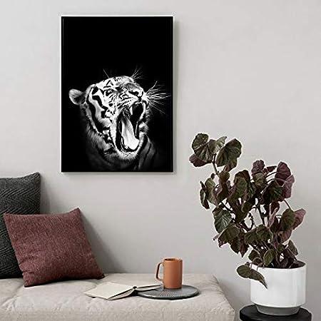 wojinbao Sin Marco White Tiger Roar Carteles e Impresiones Arte ...