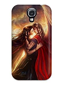 New Premium Flip Case Cover Two Angels Skin Case For Galaxy S4