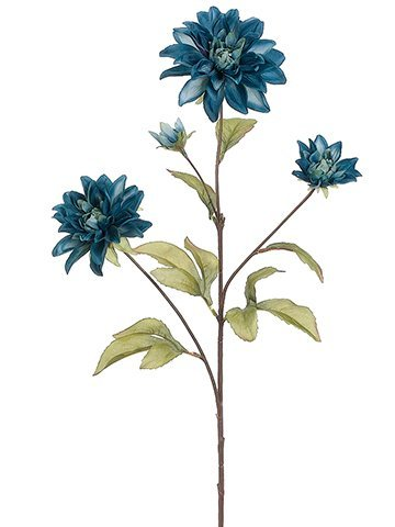 dahlia-silk-flower-spray-in-teal-blue-29-tall