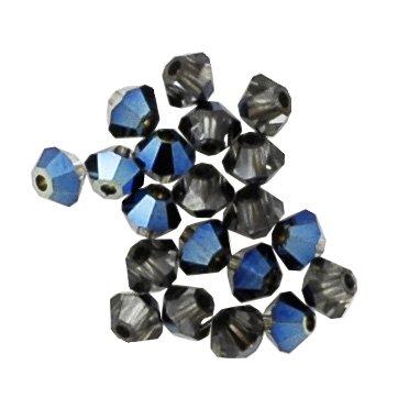 100 pcs 3mm Swarovski 5301 Crystal Bicone Beads, Crystal Metallic Blue, SW-5301 (5301 Crystal Beads Bicone)