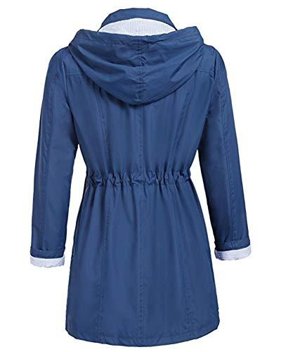 Coupe Vent Longues Manches Zipp AnyuA Confortable Femme Capuche qzXFXw