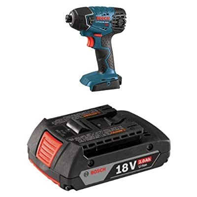 Bosch Bare-Tool 25618B 18-Volt Lithium-Ion 1/4-Inch Hex Impact Driver with 2.0 AH batter