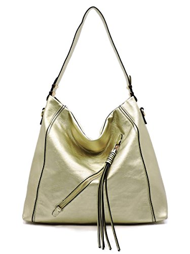 Handbag Purse Shoulder 88 Light Gold Fashion Hobo Elphis Bag Zipper XYzWXZ1S