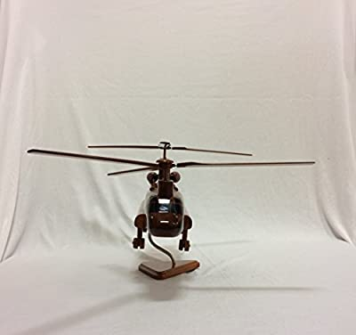 Wood Art USA CH-47 Chinook Replica Helicopter Model Hand Crafted with real Mahogany wood