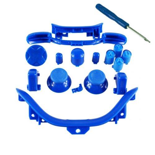xbox 360 controller parts blue - 7