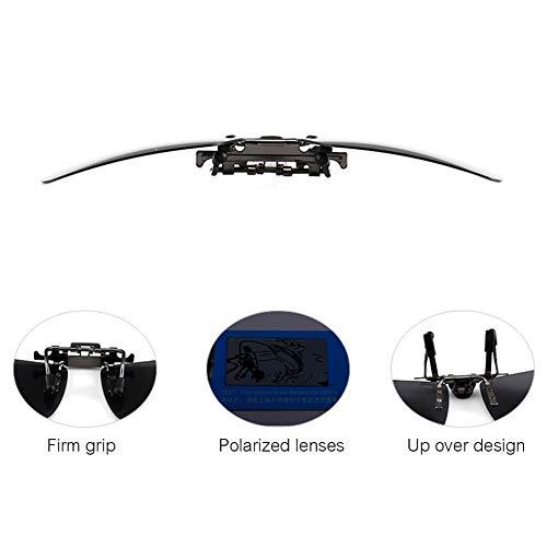 la la Pesca Marco con 5 7 sin de conducción de Rectangular Febelle polarizadas UV400 para Up Gafas Clip Flip Sol CWApqaw
