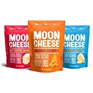 Moon Cheese - 100% Natural Cheese Snack - Variety (Cheddar, Gouda, Pepper Jack) 2 oz - 3 Pack