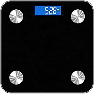 Black Mini Body Fat Scales Household Support Bluetooth APP Fat Percentage Digital Body Fat Weighing Scale
