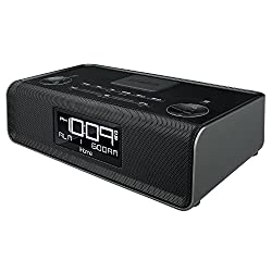 iHome iBN43BC Bluetooth Stereo Dual Alarm FM Clock Radio and Speakerphone with USB Charging