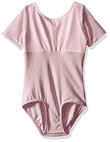 Danskin Little Girls' Dance Sheer Cap Sleeve Leotard, Lavender, Toddler