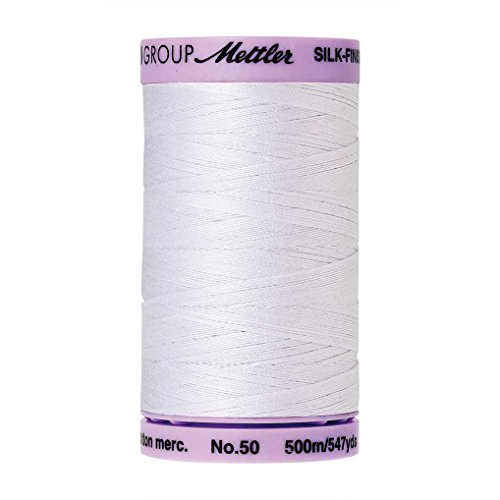 Mettler Silk-Finish Solid Cotton Thread, 547 yd/500m, White ()