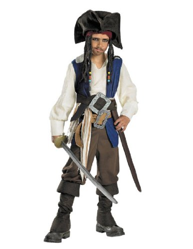 Pirates of the Caribbean - Captain Jack Sparrow Child Costume Size M(7-8) (Jack Sparrow Boys Costume)