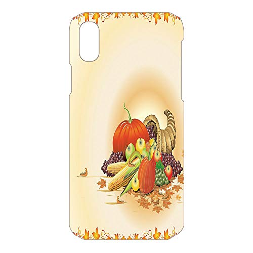 Phone Case Compatible 3D Printed 2018 Apple iPhone Xs MAX DIY Fashion Picture,Rustic Composition Thanksgiving Halloween,Lovely Personalized Hard Plastic Phone Case Fashion -