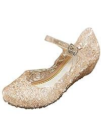 ARAUS Zapatos de Princesas Niña Sandalias de Tacón Disfraz Zapatillas Plásticas Fiesta Ceremonia