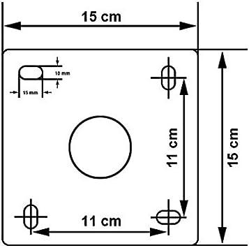 PremiumX Soporte de pared de 45 cm aluminio SAT para antena parabólica Soporte de pared para antena de satélite aprobado por TÜV (ITV Alemania) 450 mm