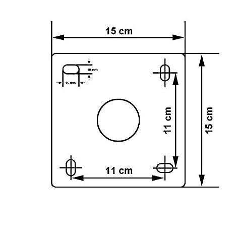 PremiumX 18cm Wandhalter ALU Halterung f/ür SAT Sch/üssel T/ÜV gepr/üft mit Fischer Schraubensatz Wand Montage