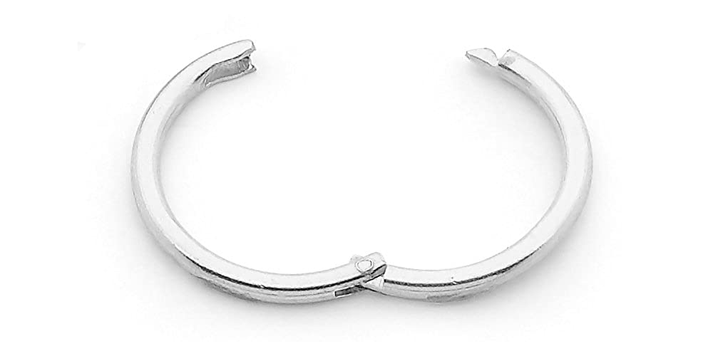 365 Sleepers Solid Sterling Silver Single 8mm 18G Hinged Sleeper Hoop Unisex Earring Nose Segment Ring HSN8SS