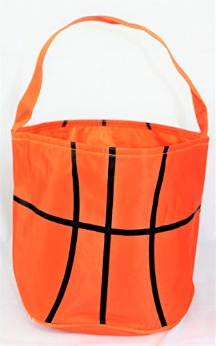 Sporty Basketball Halloween Basket Bucket snack bags children kids practice (Halloween Kid Snacks)