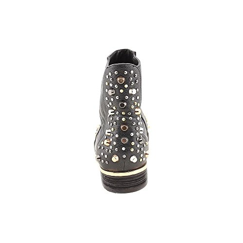 Modern Vice Madge Womens Studded Ankle Boots Black xjBvJ61