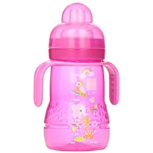 MAM Trainer Bottle with Handles, Girl, 4 Plus Months 8-Ounce, (For Girl)