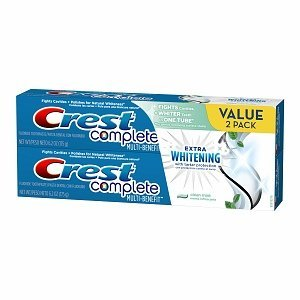 (Crest Complete Multi-Benefit Extra Whitening Toothpaste, Value Pack, Clean Mint, 2 tubes 6.2 oz)
