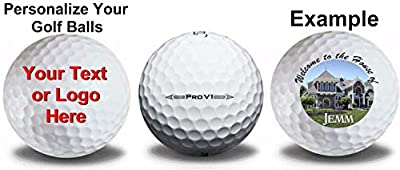 Titleist 2 Dozen Personalized 1 ProV1 and 1 ProV1x Refinished Golf Balls Upload Your Own Text or Image
