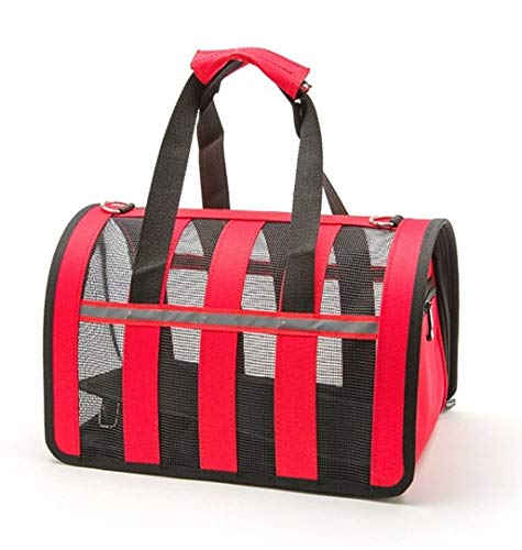 Red Small Pet Dog Outing Bag Portable Adjustable Tote Bag Breathable Handbag S (color   Red)