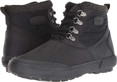(Keen Women's Elsa II Ankle Quilted WP Raven/Black 7.5 B US)