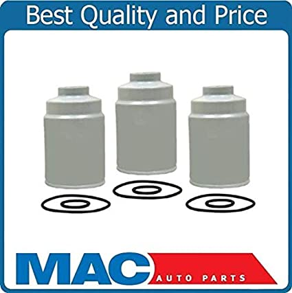 amazon com: 100% new (3) duramax diesel fuel filters for 01-15 chevrolet  gmc 6 6: automotive