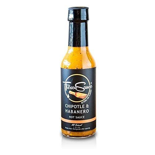 Fresco Sauce - Chipotle & Habanero - Flavorful Hot Sauce - Chipotle & Habanero Peppers - All Natural - Extract Free - Gluten Free - 5 fl oz