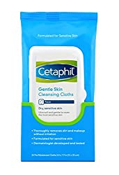 Cetaphil Gentle Skin Cleansing Cloths, Dry Sensitive Skin, Fragrance Free, 25 Count (Pack Of 3)
