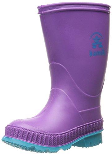 Kamik Girls' Stomp Rain Boot, Dewberry, 11 M US Little Kid - Kid Stomp Rain Boot