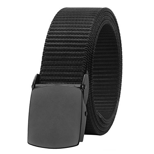 Nylon Belts for Men with Metal Buckle, SUOSDEY Tactical Outdoor Belt Military Style Adjustable 1.5