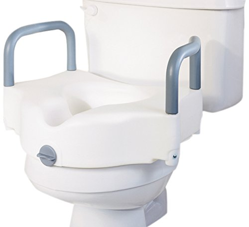 Medline G30270AH Locking Raised Toilet Seats with Arms by Medline