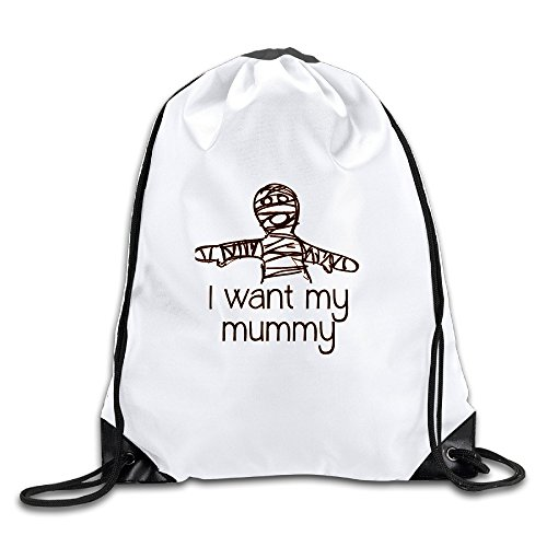Price comparison product image I Want My Mummy Halloween Cool Drawstring Backpack Drawstring Bag