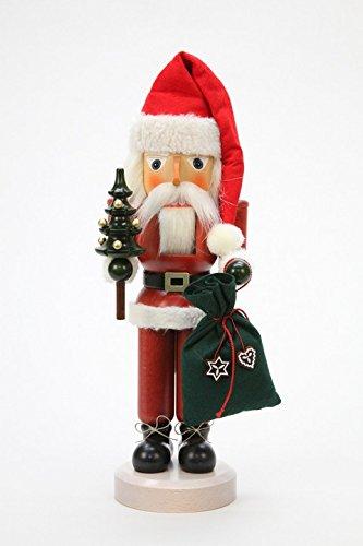 German Christmas Nutcracker Santa Claus glazed - 40,5cm / 16 inch - Christian Ulbricht by Ulbricht