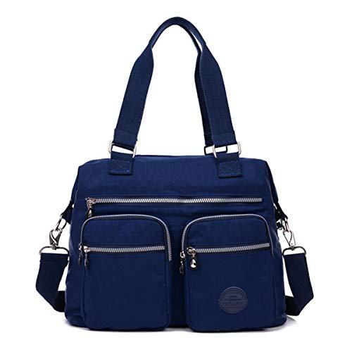 poches bandoulière Chou en Marine avec à nylon résistant Taille à l'eau bandoulière Petit Sac L à Bleu sac Totes léger zwHqAndZ