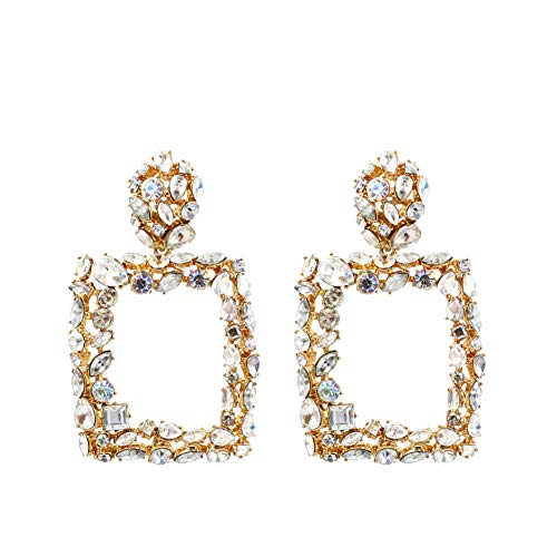 - Rhinestone Jewel Fashion Statement Earrings KELMALL COLLECTION