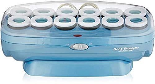 Baby Pro Nano Titanium 12 Roller Set Velvet Hot Hair Curlers