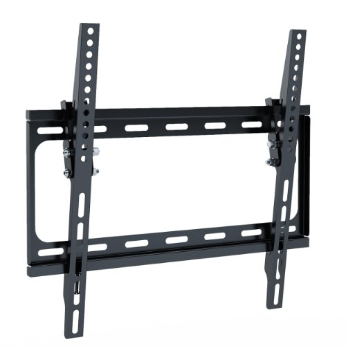 Tilting Flat Panel Wall Mount for TV, 26 to 47-Inch (Black Flat Panel Wall Mount)