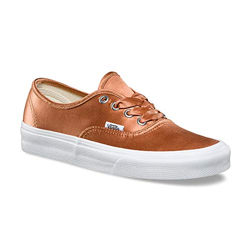 Vans Authentic Youth 4.5 Womens 6 Satin Lux Rose True White Skateboarding Shoes for $<!--$59.99-->