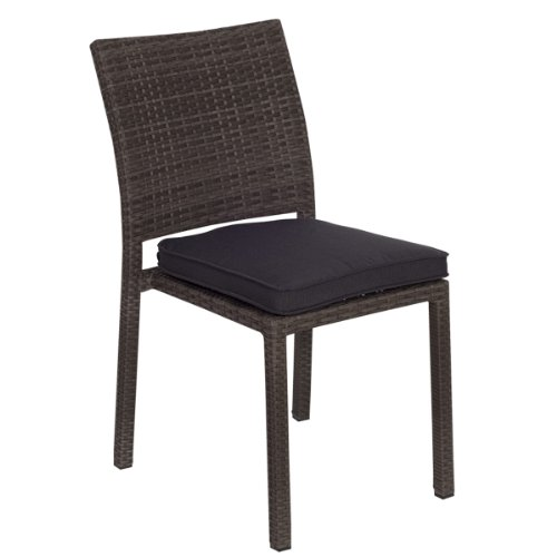 Atlantic 4-Pack Liberty Dining Stackable Chairs, Grey with Grey Cushions Review