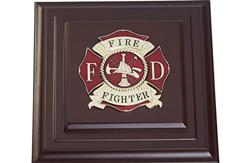 Firefighter Wood Frame - Allied Frame US Firefighter Medallion Desktop Box