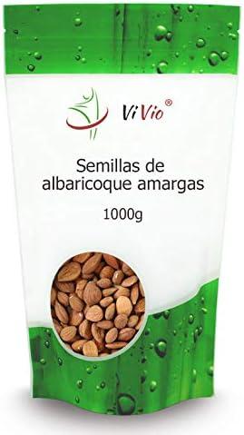 Semillas de albaricoque amargas 1000g | Vitamina B17 | 100% Naturales | Formato ahorro | Bolsa autocierre