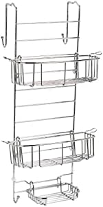 Zenna Home 7803SS, Over-the-Shower Door Caddy, Chrome