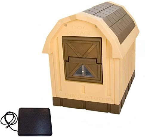 ASL Solutions Deluxe Insulated Dog Palace with Floor Heater – Large